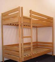 Деревянная детская двухярусная кровать Твайс