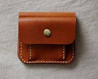 """Шкіряний гаманець унісекс кожаный кошелек бумажник унисекс """"Вur"""" ручної роботи, натуральна шкіра, на кнопці"""