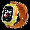 Детские Smart часы Q100 (Q90s)-Vibro, Оранжевые (Wi-Fi, cенсор)