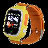 Детские Smart часы Q100 (Q90s)-Vibro, Оранжевые (Wi-Fi, cенсор), фото 1