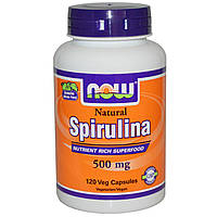 Спирулина, Natural Spirulina 500 mg (120 veg caps)