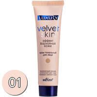 Bielita Luxury Velvet Skin Тональный крем Эффект бархатной кожи (тон 01 слоновая кость) 30мл