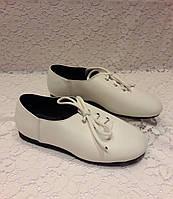 Туфли народные детские белые