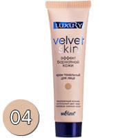 Bielita Luxury Velvet Skin Тональный крем Эффект бархатной кожи (тон 04 песочно бежевый) 30мл