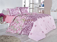Постельное белье Nazenin Laryssa розовое евро размера
