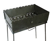 Мангал разборной на 8 шампуров (мангал-чемодан) толщина 2мм  CHZ, фото 1