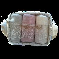 Набор полотенец Begonville Viva 4 молочный, розовый, серый 30*50 - 3 шт.