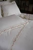Элитное постельное белье Begonville Surprise розовое евро