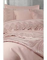 Набор постельного белья с покрывалом Pike  Karaca Home Yade пудра