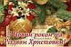 З Новим роком та Рiздвом Христовим !