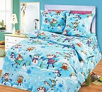 """Подростковое постельное белье Kidsdream """"Веселая компания"""" полуторного размера."""