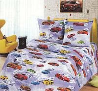 """Подростковое постельное белье Kidsdream """"Автосвіт"""" полуторного размера."""