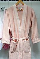 Махровый халат Deco Bianca 52001 V2 пудра S/M