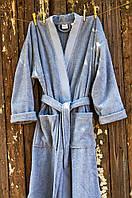 Махровый халат Deco Bianca 52001 V3 голубой S/M