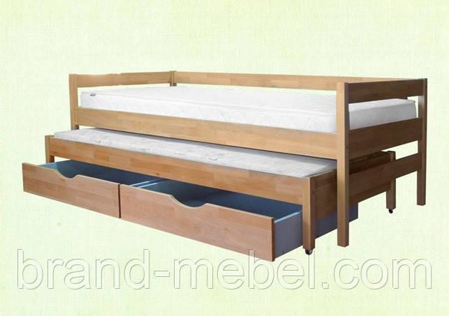 Деревянная детская кровать Трио