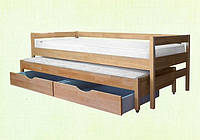 Деревянная детская кровать Трио 80х200/190