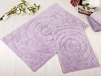 Набор ковриков для ванной Irya - Waves lila лиловый 60*90+40*60