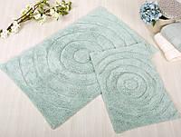 Набор ковриков для ванной Irya - Waves mint ментоловый 60*90+40*60
