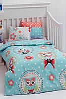 Детское постельное белье для младенцев Eponj Home Baykus голубой