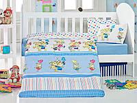 Детское постельное белье для младенцев Eponj Home Pitircik голубой