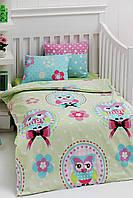 Детское постельное белье для младенцев Eponj Home Baykus зеленый