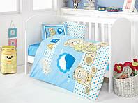 Детское постельное белье для младенцев Eponj Home Yumos Mavi