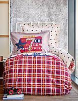 Подростковое постельное белье Karaca Home Peace бордовое