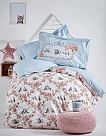 Подростковое постельное белье Karaca Home Paise голубое