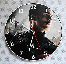 Настенные часы Капитан Америка. Вторжение роботов