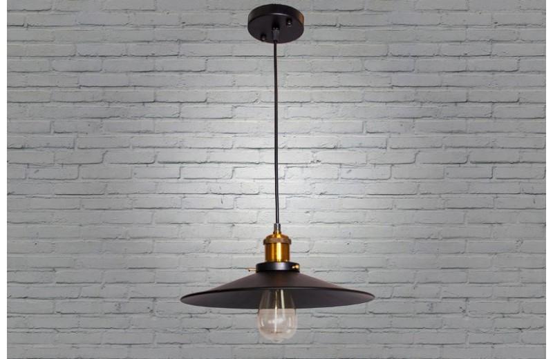 Красивый светильник черного цвета