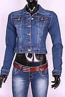 Модный женский джинсовый пиджак Re-Dress (код 5028)