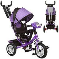 Детский трехколесный велосипед с ручкой M 3115-8НА (Фиолетовый)