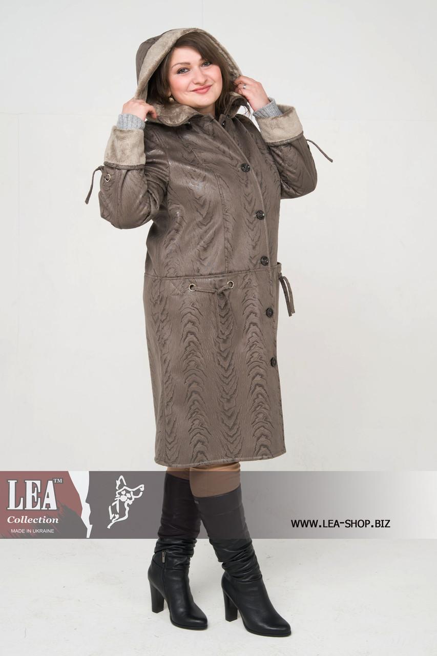 Демисезонная куртка крупных размеров, с капюшоном  №5 ГК