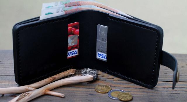"""Чоловічий гаманець """"Рocket"""" ручної роботи"""