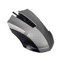 Мышка игровая геймерская компьютерная серая