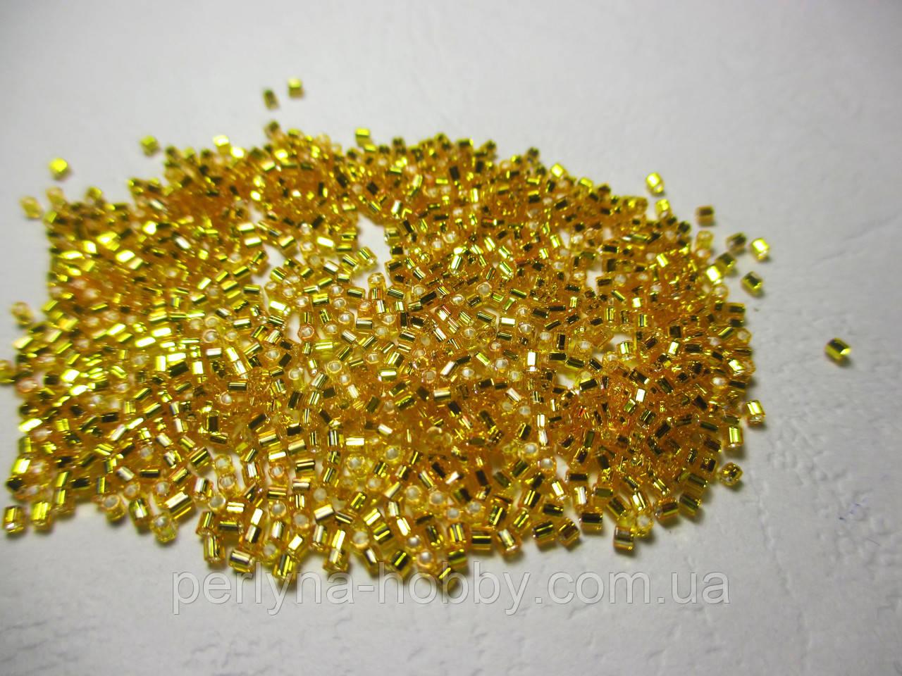 Бисер рубка японский ювелирный № 15 мелкий Матсуно MATSUNO BEADS Япония  5 гр, № 36. жовто-гарячий