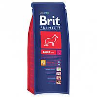 Brit Premium Adult L 15 kg для собак