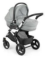 Детская универсальная коляска 3 в 1 Cam Dinamico UP TOP white, серый
