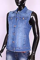 Женский джинсовый жилет больших размеров Moon Girl (код 2686)