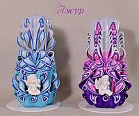 Свечи ручной работы сангелочками