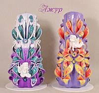 Свечи ручной работы с ангелочками