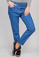 Джинсы женские бойфренды, укороченные 357K001 (Синий)