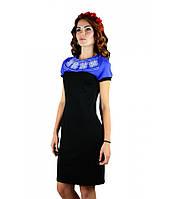 """Вышитое синее платье """"День-Ночь"""" М-1020-1, фото 1"""