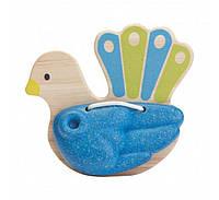"""Деревянная игрушка """"Погремушка в виде птицы - Павлин"""", PlanToys"""