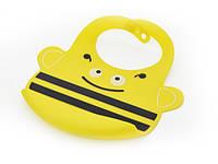 Детский силиконовый нагрудник 25 х 21 см Пчелка Fissman (AY-9530.BB)
