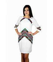 Вышитое платье белое М-1054, фото 1