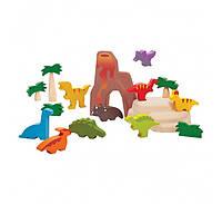 """Деревянная игрушка """"Набор динозавриков"""", PlanToys"""