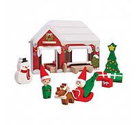 """Деревянная игрушка """"Домик Деда Мороза"""", PlanToys"""