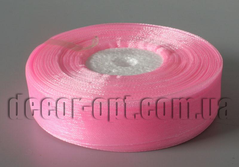 Лента органза розовая 2 см 50ярд арт 05