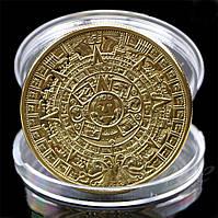 "Сувенирная монета календарь МАЙЯ пророчество Ацтеков, ""Календарь Ацтеков"" или ""Камень солнца"""